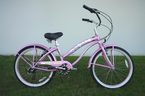 "Girl's 24"" Beach Cruiser Bike Frame Color: Pink"