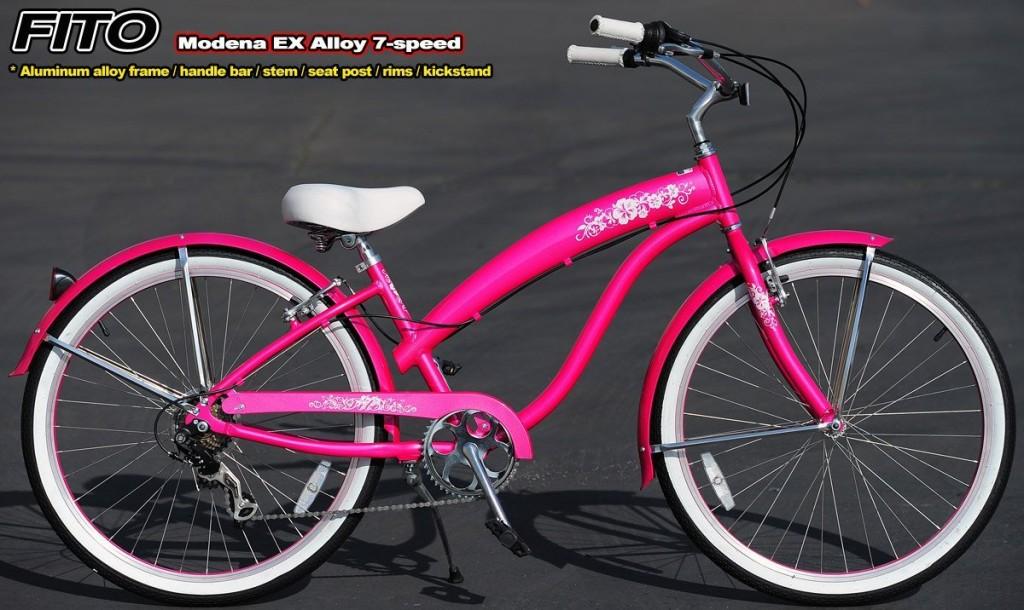 hot pink floral bike
