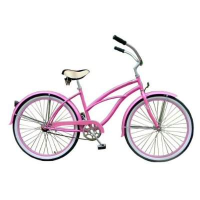 Pink Beach Cruiser Bike