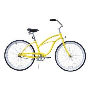 Yellow Beach Cruiser Bicycle