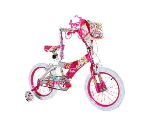 Pink and White 16 Inch Girl's Barbie Bike