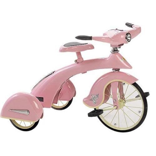 Cutest Steel Pink Retro Trike for Girls