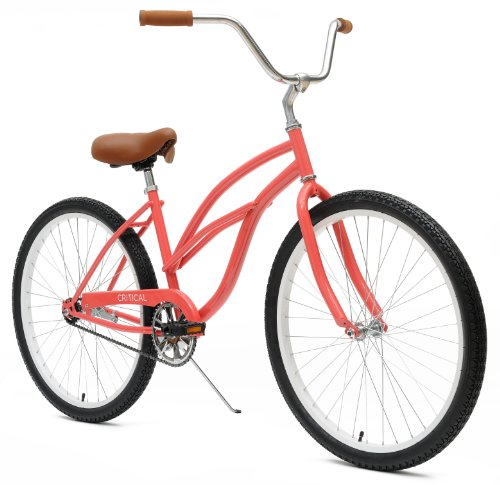 Cute CORAL PINK RETRO Women's Beach Cruiser 1-Speed Bike
