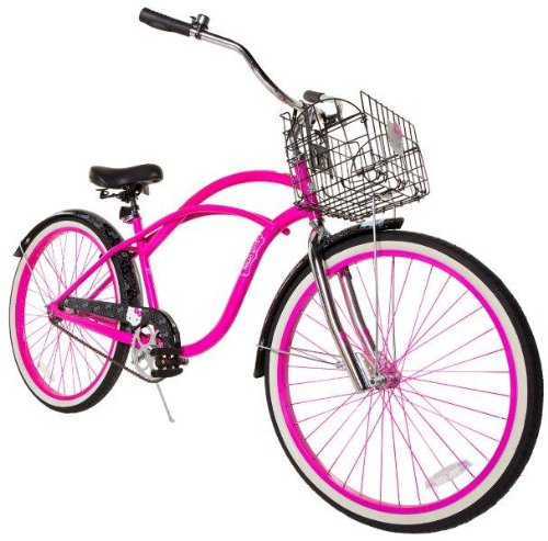 Pink and Black 26 Inch Hello Kitty Women's Cruiser Bike