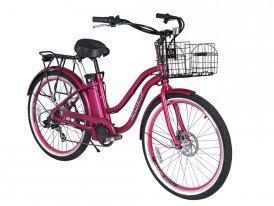Electric Pink Cruiser Bike for Sale