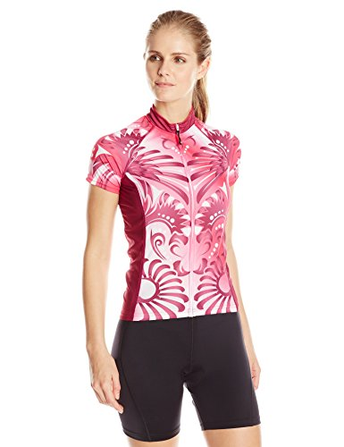 Pink Polyester Cycling Jersey