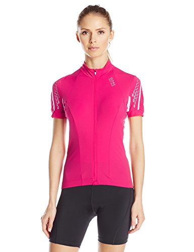 Short Sleeve Jazzy Pink Cycling Jersey for Women