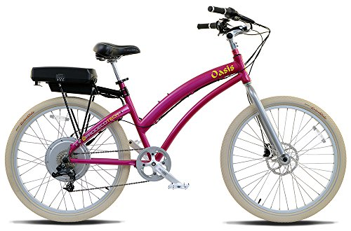 Metallic Pink and White Electric Bicycle